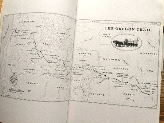 Buck brothers' Oregon Trail Map
